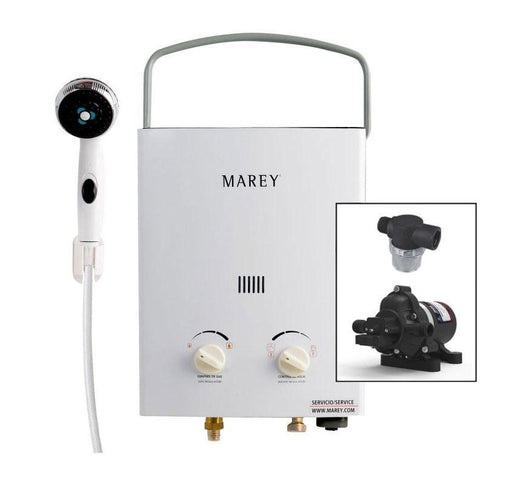 Marey Portable 5L Tankless Water Heater w/ Eccoflo Pump & Strainer