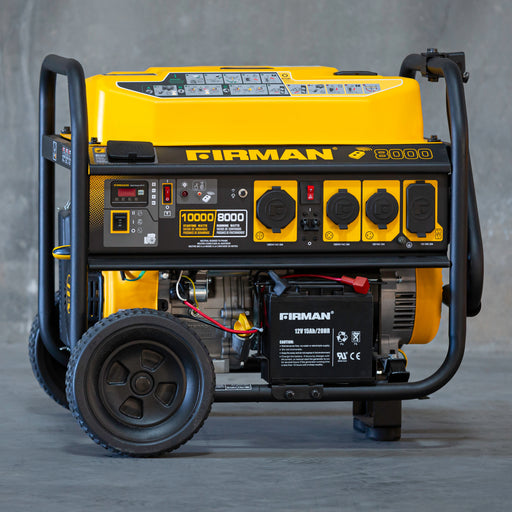 Firman Generator P08004 Performance Series 10,000/8000 Watt Remote/Electric/Recoil Start