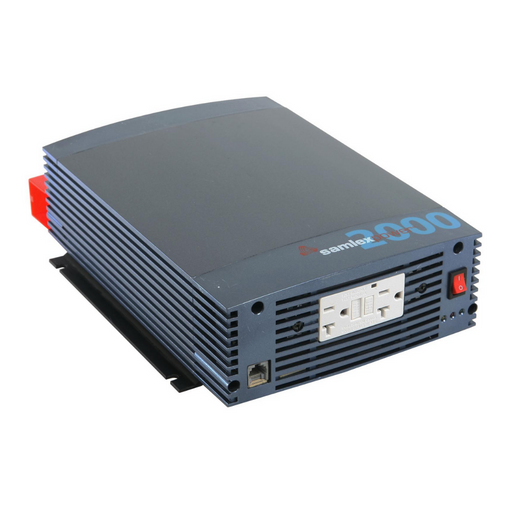 Samlex SSW-2000-12A Pure Sine Wave 2000w Inverter with Digital Remote