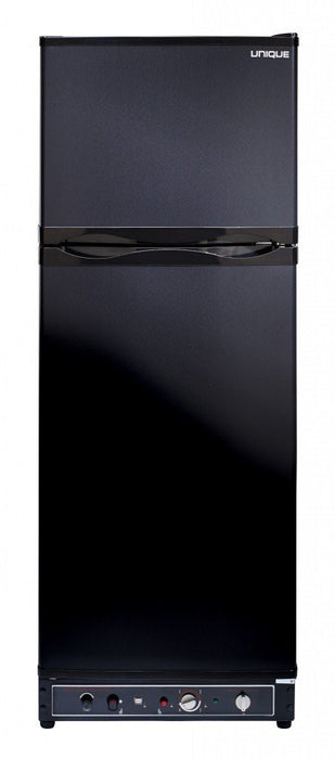 UNIQUE 10 CU/FT Propane Fridge with Freezer - Black