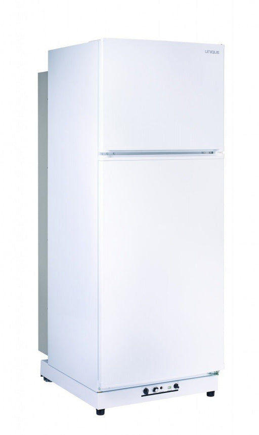 UNIQUE 13 CU/FT Propane Fridge with Freezer  - White