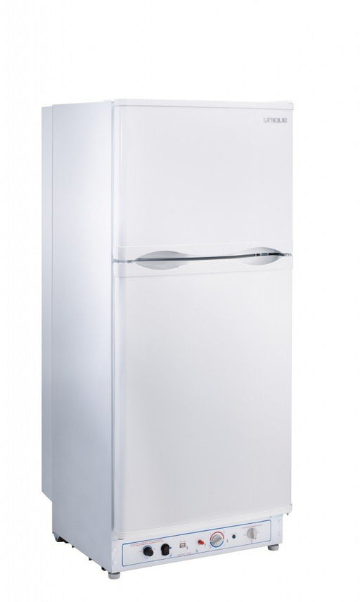 UNIQUE 6 CU/FT Propane Fridge with Freezer- White