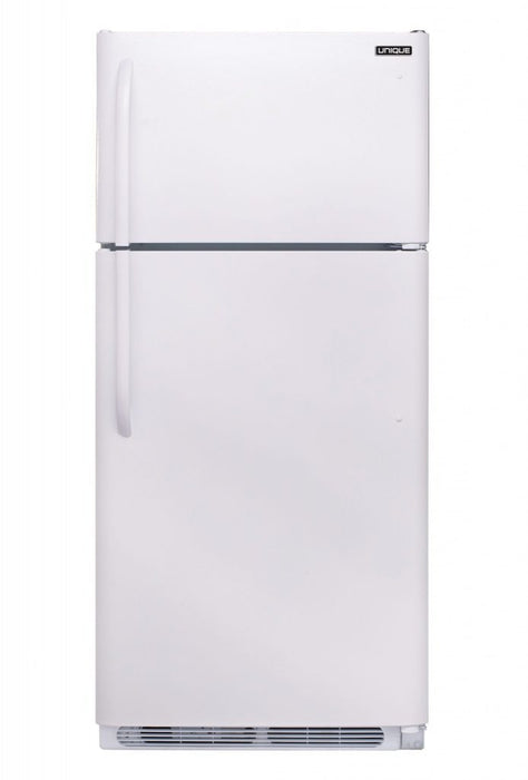 UNIQUE 18 CU/FT Propane Fridge with Freezer - White