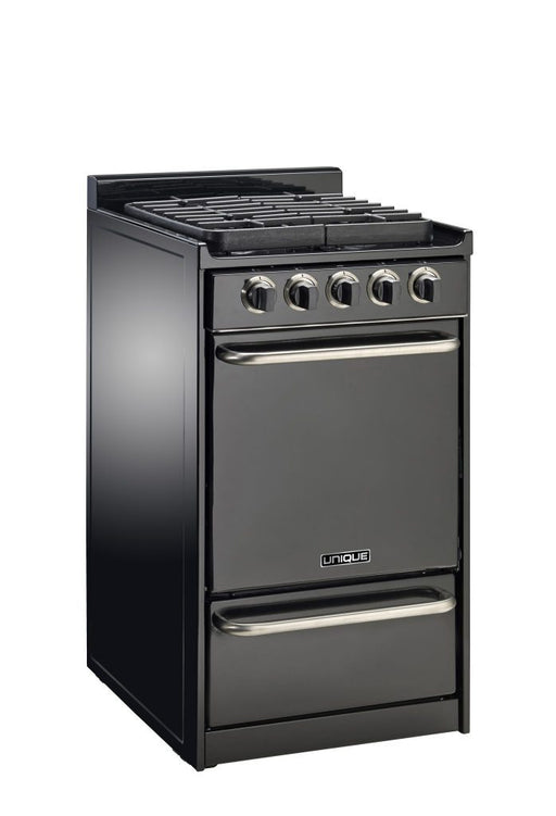 "UNIQUE 20""  Signature Gas Range - Black"