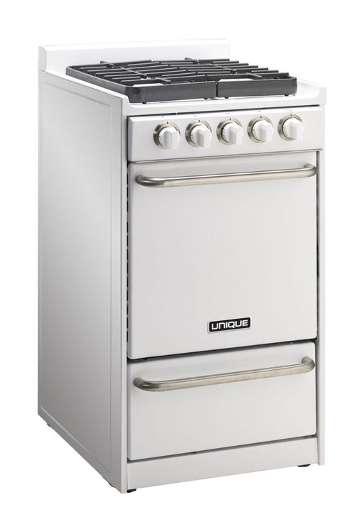 "UNIQUE 20"" Signature Gas Range - White"