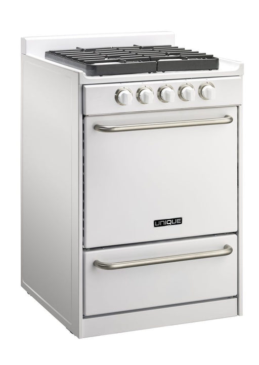 "Unique 24"" Signature Gas Range - White"