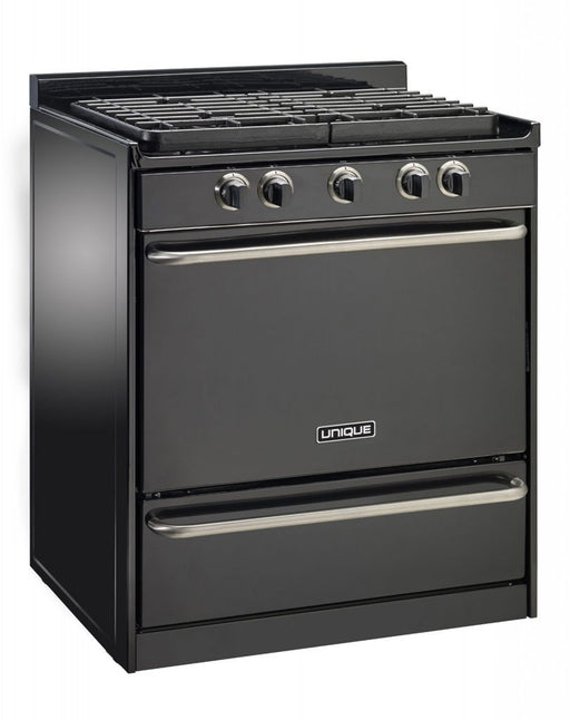 "UNIQUE 30"" Signature Gas Range - Black"