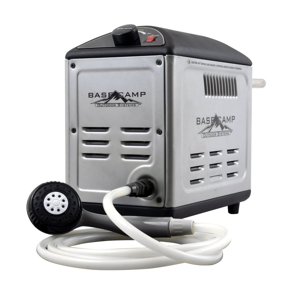 Mr. Heater BaseCamp BOSS-XB13 Model # F235300 Water Heater Mr Heater- The Cabin Depot Off-Grid Off Grid Living Solutions Cabin Cottage Camp Solar Panel Water Heater Hunting Fishing Boats RVs Outdoors