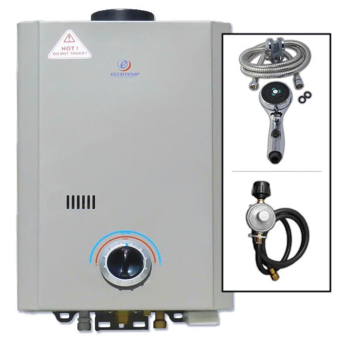 Eccotemp L7 Tankless Water Heater w/ Flojet Pump Water Heater Eccotemp- The Cabin Depot Off-Grid Off Grid Living Solutions Cabin Cottage Camp Solar Panel Water Heater Hunting Fishing Boats RVs Outdoors