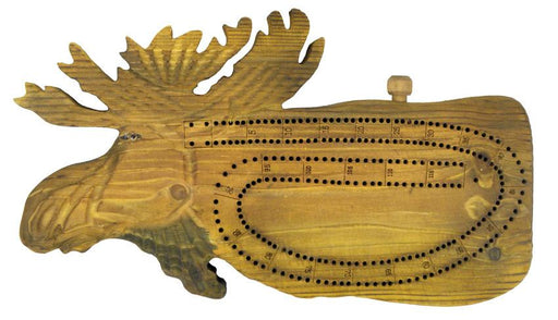 Hand-Carved Moose Cribbage Board Leisure The Cabin Depot- The Cabin Depot Off-Grid Off Grid Living Solutions Cabin Cottage Camp Solar Panel Water Heater Hunting Fishing Boats RVs Outdoors