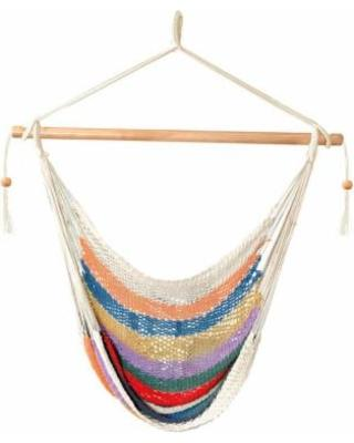 Bliss Tahiti Cotton Rope Hammock Chair Leisure Bliss- The Cabin Depot Off-Grid Off Grid Living Solutions Cabin Cottage Camp Solar Panel Water Heater Hunting Fishing Boats RVs Outdoors