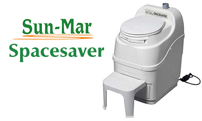 Sun-Mar composting toilet Spacesaver USA by The Cabin Depot