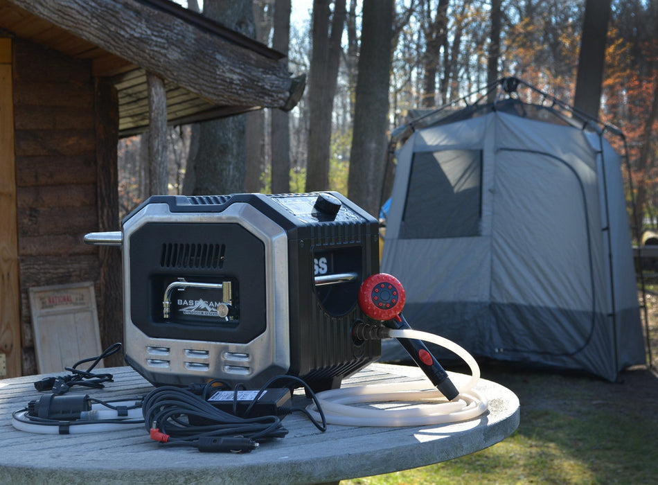 Mr. Heater BaseCamp BOSS-XCW20   Item# F235350 Water Heater Mr Heater- The Cabin Depot Off-Grid Off Grid Living Solutions Cabin Cottage Camp Solar Panel Water Heater Hunting Fishing Boats RVs Outdoors