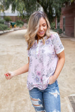 Load image into Gallery viewer, Hopeful Floral Short Sleeve Top