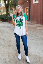 Load image into Gallery viewer, Shamrock On Raglan Top