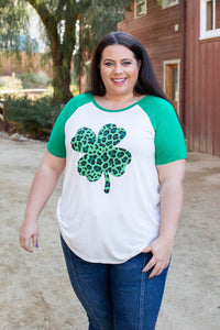 Shamrock On Raglan Top