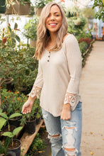 Load image into Gallery viewer, Cuffed With Love 3/4 Sleeve Top in Oatmeal