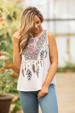 Featherly Sleeveless Top