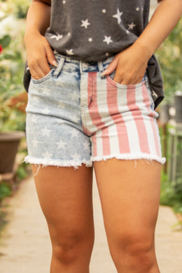 Freedom Rings Judy Blue Shorts