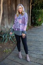Load image into Gallery viewer, Purple Patchwork Hoodie