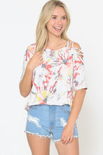 Load image into Gallery viewer, Radiate Love Open Shoulder Top