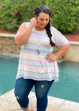 Load image into Gallery viewer, Perfectly Pastel Cold Shoulder Tunic