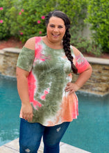 Load image into Gallery viewer, Summer Fields Tie Dye Cold Shoulder