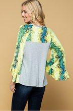 Load image into Gallery viewer, Snake Charmer Bell Sleeve Top