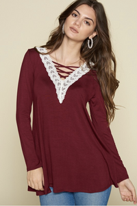 Been Here Waiting Criss Cross Tunic