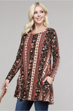 Load image into Gallery viewer, Boho Chic Long Sleeve Tunic