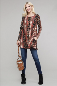 Boho Chic Long Sleeve Tunic