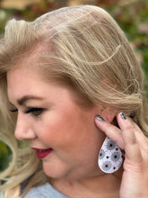 Load image into Gallery viewer, Caught In Your Web Teardrop Leather Earrings