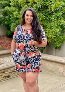 Exotic Rose Romper