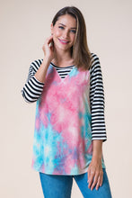 Load image into Gallery viewer, Time to Fly Tie Dye Raglan