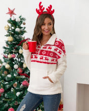 Load image into Gallery viewer, Festive & Cozy Sherpa Pullover