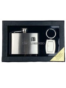 Flask and Keychain Gift Set