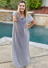 Load image into Gallery viewer, Pinstriped Maxi Dress