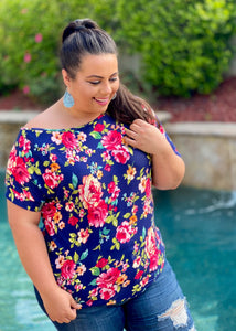 Night Blooms Boxy Top