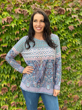 Load image into Gallery viewer, Paisley Palace Long Sleeve Top