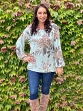 Load image into Gallery viewer, In Harmony Sage & Marsala Long Sleeve Pullover