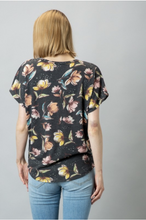 Load image into Gallery viewer, Gorgeous Floral Front Knot Top