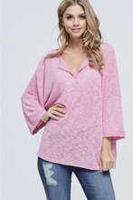 Load image into Gallery viewer, Mauve Madness Open V-Neck Top
