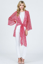 Load image into Gallery viewer, Lace Floral Kimono