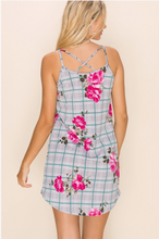 Load image into Gallery viewer, Checked in Floral Summer Tunic