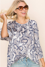Load image into Gallery viewer, Serpentine Goddess Bell Sleeve Top