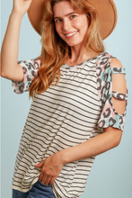 Load image into Gallery viewer, Playful Raglan Cold Shoulder
