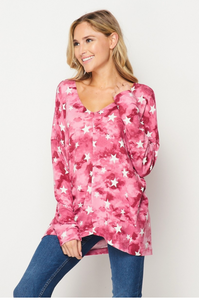Ruby Star Long Sleeve Top