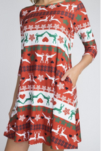 Load image into Gallery viewer, Joy To The World Swing Dress