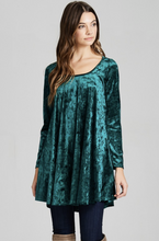 Load image into Gallery viewer, Winter Wonderland Velvet Swing Dress