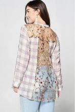 Load image into Gallery viewer, Lavender Fields Plaid Button Down Shirt